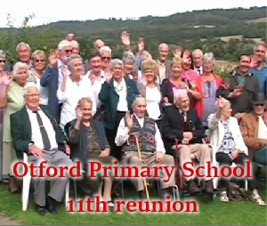 Otford Primary School 11th reunion 3rd Sept 11.30am - 4pm
