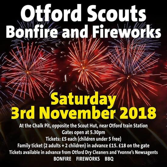 Otford Scouts Fireworks